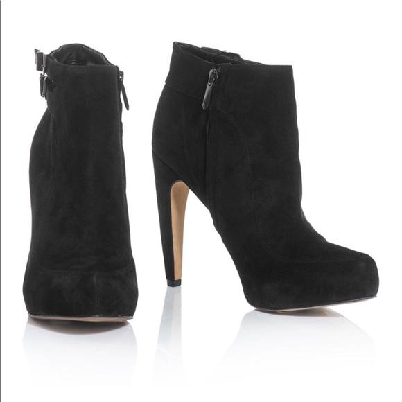 236a1d95e393c Sam Edelman Black Kit Suede Ankle Boots size 6.5. M 5ac7a10c5521beac6c53aaff